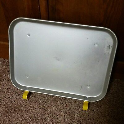 Vintage Traco Dallas USA Food Drive - In Car Hop Tray Aluminum and yellow