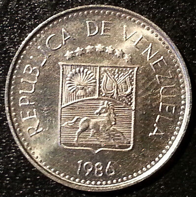 Venezuela 5 Centimos 1986 Beautiful Detail Coat of arms nice coin! magnificent