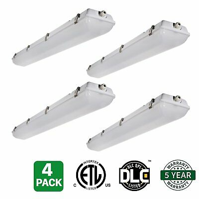 Hykolity 4 Pack of 4' LED Vapor Tight Light Weatherproof Fixture 40W 5000lm