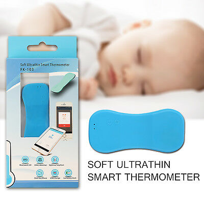 Wearable Soft Ultra-thin Thermometer Baby Fever Monitoring with Mobile Alerts