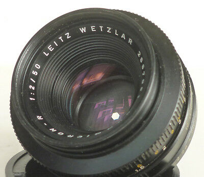 LEICA LEITZ-WETZLAR SUMMICRON-R f/2 50mm LENS BLACK  *read*