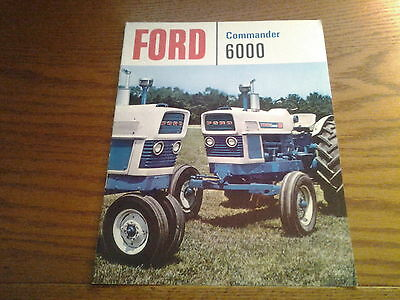 Ford 6000 Commander Tractor Dealers Brochure original