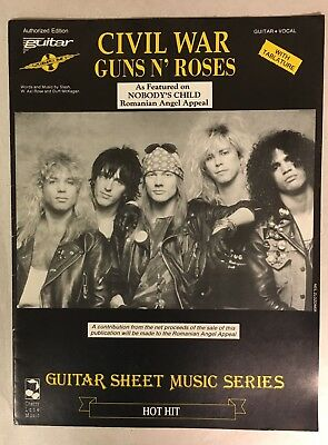 Guns N' Roses Sheet Music Guitar/Vocal With Tablature 1990