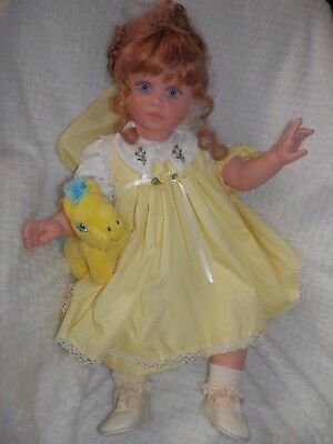 "Gorgeous 26"" Vintage Lloyd Middleton Sienna Vinyl Doll Numbered & Signed / Tag"
