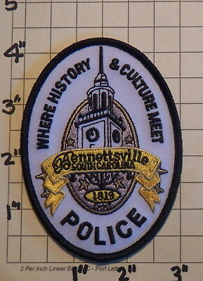 Bennettsville (SC) Police Department Patch                 ***NEW***