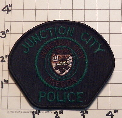 Junction City (OR) Subdued Police Department Patch  (Green Lettering)  ***NEW***
