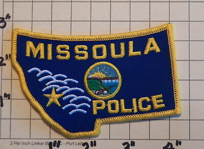 Missoula (MT) Police Department Patch              ***NEW***