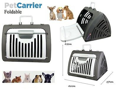 Pet Carrier Cage Cat Dog Folding Crate Bag Portable Travel Animal House Kennel
