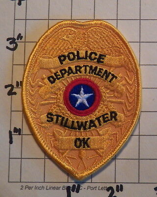Stillwater (OK) Police Department Patch             ***NEW***