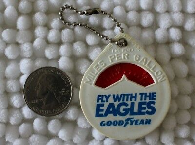 Goodyear Tires Fly With The Eagles MPG Miles Per Gallon Keychain Key Ring #25506