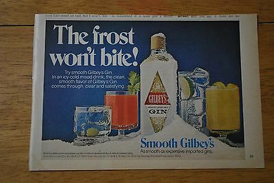 Gilbey's Gin 1978 Playboy Magazine ad - Excellent