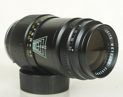 LEICA LEITZ-WETZLAR TELE-ELMAR 135mm f/4 M-MOUNT black LENS 1971 GERMANY
