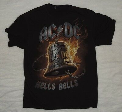 AC/DC Hells Bells T Shirt Mens Back in Black Concert Tour Band Tee Size Large