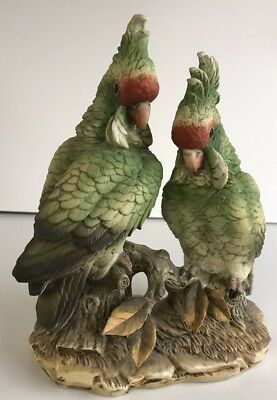 Vintage Porcelain Cockatoo Couple by Andrea, md in Japan, from 60's Series