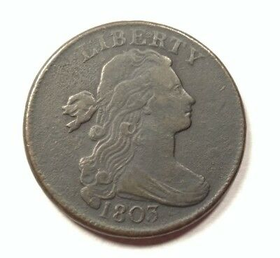 1803 Draped Bust Large Cent S-260 Small Date Small Fraction VF Details