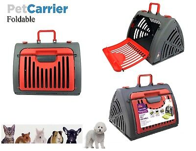 Pet Carrier Travel Crate Folding Animal Cage Cat Dog Bag Portable House Kennel