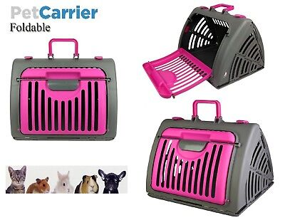 Portable Pet Carrier Cage Cat Dog Crate Bag Foldable Travel Animal House Kennel