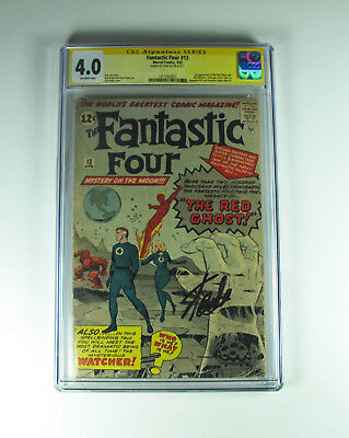 Fantastic Four 13 CGC 4.0 signed by Stan Lee 1st app the Watcher
