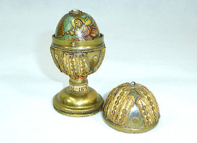 Egg Wooden Egg in the Brass Holder Ukraine/Russia Moses Russia