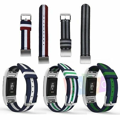 Replacement Wrist Strap Nylon Watchband For Fitbit Charge 2 Watch Band