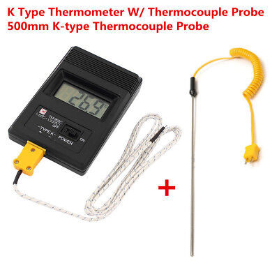 TM902C LCD K Thermometer Temperature Meter Probes with 2pcs Thermocouple Probes