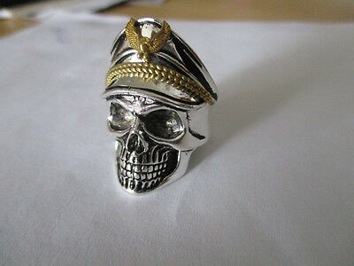 soldier skull Ring Stainless Steel new