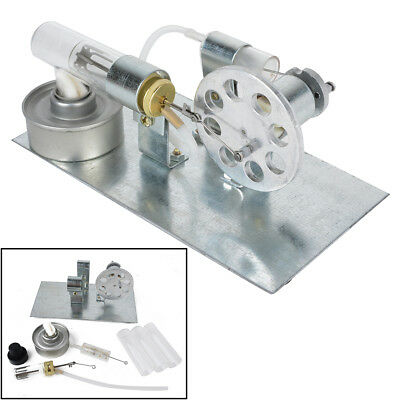 Mini Steam Stirling Engine Motor Model Hot Air Powered Physics Educational Toy