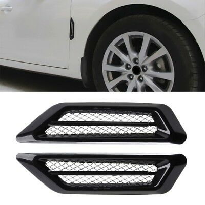 1 Pair Car Side Air Flow Vent Fender Hole Cover Intake Grille Duct Sticker Decor