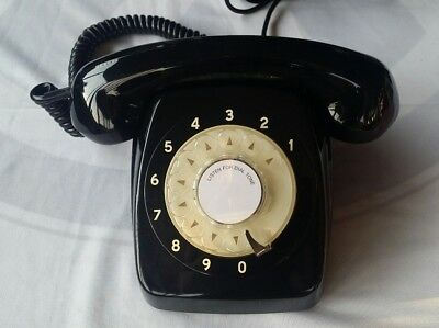 (First Year )1964 Awa Black  Vintage Antique Retro Rotary Dial Telephone