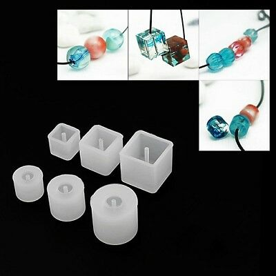 Silicone DIY Bead Mold Round Square Shape Jewellery Making Mould Craft Tool