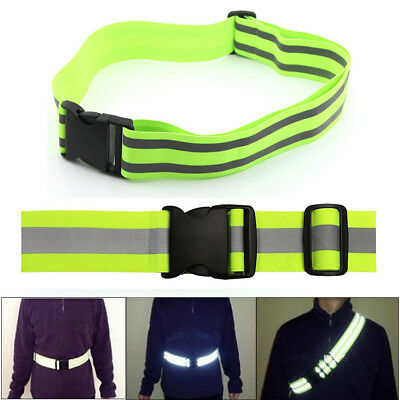 High Visibility Reflective Security Safety Elastic Waist Belt For Walking Biking