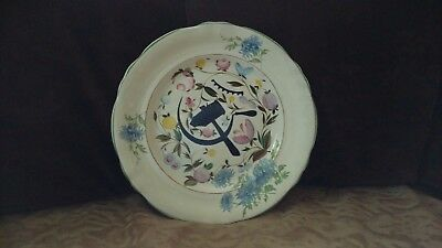Russian plate with hand-painted and symbols of the USSR (sickle, hammer) year?