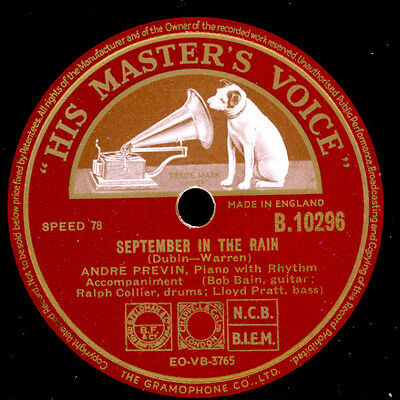 "ANDRE PREVIN  September in the rain ""tolle Modern Jazz Fassung"" / Lullaby  X1405"