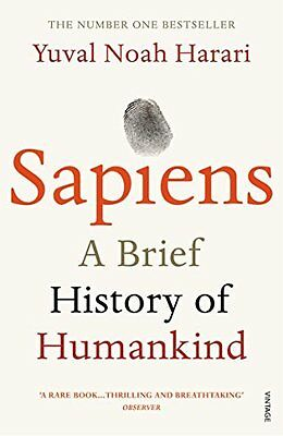 BOOK : Sapiens A Brief History of Humankind by Yuval Noah Harari Paperback New