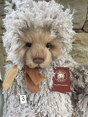 Curly 3 Large 46cm Charlie Bears Teddy Bear 2017 Collection New Release