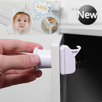 Invisible Magnetic Baby Child Locks Pet Proof Cupboard Door Drawer Safety Locks