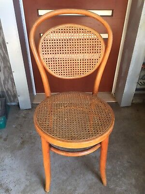 Vintage Bentwood Chair With Rattan Cane Inserts - Buy Now.