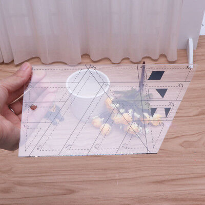 Quilting Sewing Patchwork Scale Ruler Trapezoid Polygon Foot Ladder Tailor DIY