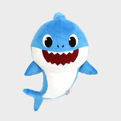 Pinkfong Daddy Shark Official Singing Plush Sound Doll Korean Song 33x21cm 36M+