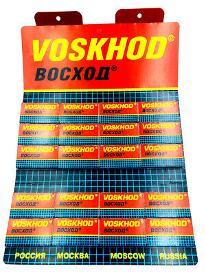 100 Voskhod Teflon Coated double edge razor blades