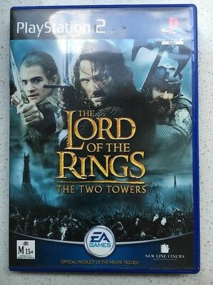 PlayStation 2 GAME : THE LORD OF THE RINGS THE TWO TOWERS ( COMPLETE)