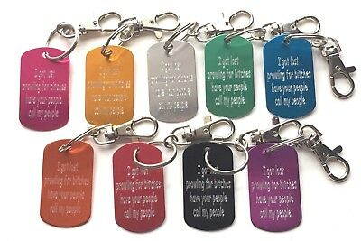 Extra Large Prowling for Bitches Pet Tag on easy clip on/off keyring  (Z998)