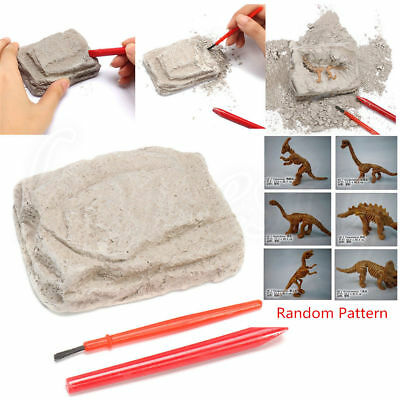 Dinosaur Excavation Kit Archaeology Dig Up Fossil Skeleton Kids Toy Gift Boxed