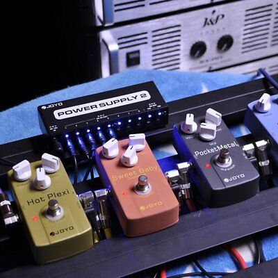 JP-02 Power Supply Guitar Pedal Device 10 Isolated Outputs & 3 Power Options HL