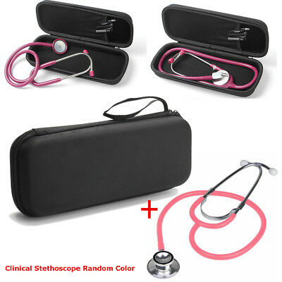 Stethoscope Storage Bag Carry Case with Lightweight Double Head Stethoscope Set