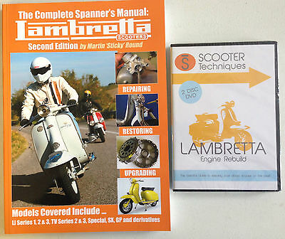 Complete Spanner's Manual Lambretta with the Lambretta Engine Rebuild  DVDs