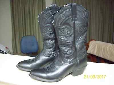 ExCond ARIAT Heritage black leather western boot  US-8B