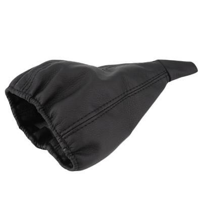 Black Leather Gear Shift Stick Gaiter Boot Dust Proof Cover For Universal Car #7