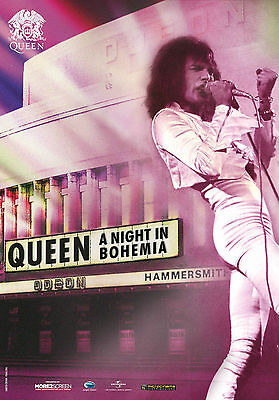 Queen A Night In Bohemia Movie Promo Poster Rolled Freddie Freddy Mercury New !
