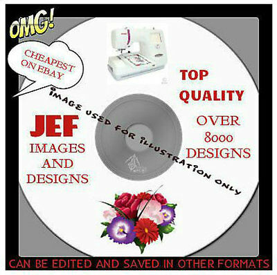 JEF JANOME MACHINE EMBROIDERY DESIGNS ON CD Inc PEPPA PIG & FROZEN -BEST ON EBAY
